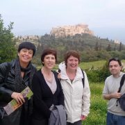 Athens walk with students