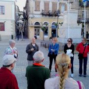 Nafplion walk with students