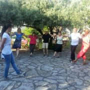 Greek dance lesson Lefkada