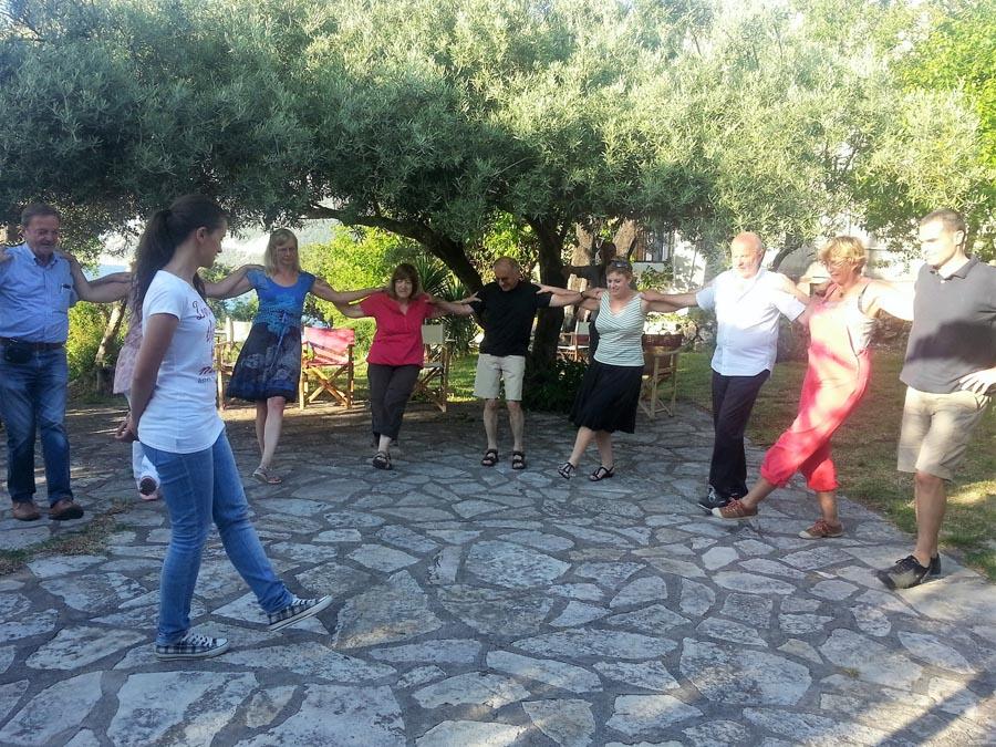 Greek dance lesson Lefkada