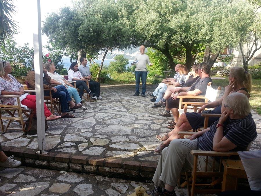 Welcoming students Lefkada