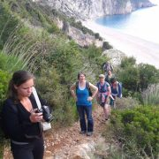 Lefkada walk with students