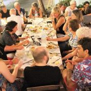 Syros tavern with students