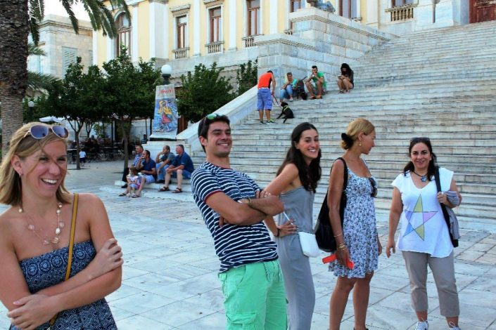 Syros walk with students