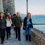 Nafplion walk with students