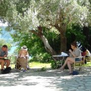 Lefkada students studying