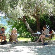 Lefkada students studying