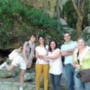 Lefkada walk with students