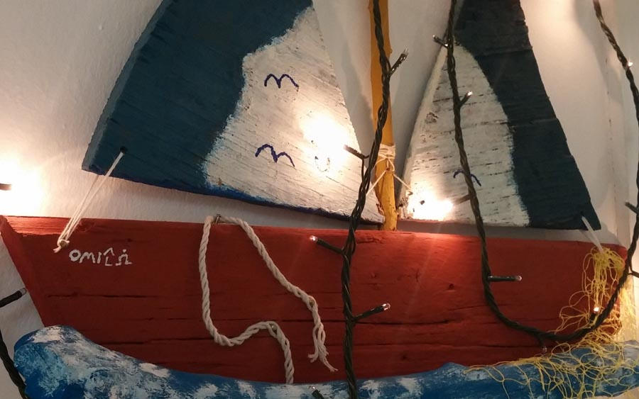 Greek Traditional Christmas Boat Omilo