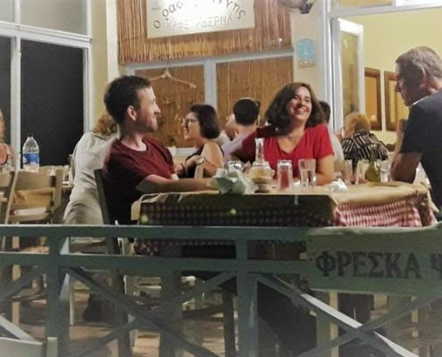 Greek tavern in Syros